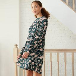 Women's Floral Print Long Sleeve Babydoll Dress - Knox Rose™ | Target