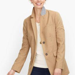 Long Wool Blend Blazer - Brushed Wool   Talbots
