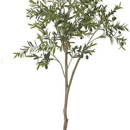 THE BLOOM TIMES 6 FT Potted Faux Olive Tree Silk Artificial Plants Outdoor in Pots Fake Plants In... | Amazon (US)