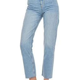 Raw Hem Crop Straight Leg Jeans | Nordstrom