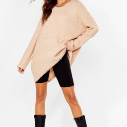 Relaxed Knit Sweater with Crew Line | NastyGal (US & CA)