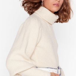 Get Knit Right Turtleneck Balloon Sleeve Sweater   NastyGal (US & CA)