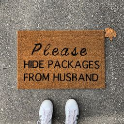 Doormat Please Hide Packages from Husband House Warming   Etsy   Etsy (US)