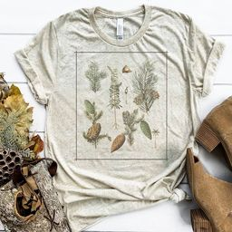 Vintage Pine Tree Chart ©  Nature Tee  Botanist Shirt  | Etsy | Etsy (US)