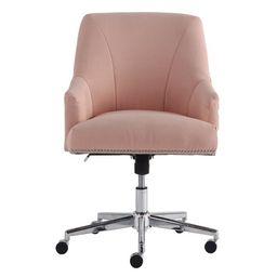 Serta Style Leighton Home Office Chair, Blush Pink Twill Fabric | Walmart (US)
