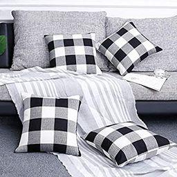 Volcanics Buffalo Check Plaid Throw Pillow Covers Set of 4 Farmhouse Decorative Square Pillow Cov... | Amazon (US)