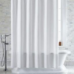 Pebble Matelasse White Shower Curtain | Crate & Barrel