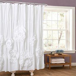 Serena White Shower Curtain | Kirkland's Home