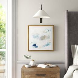 """'Pebble Coast IV' Painting on Canvas Size: 22"""" H x 22"""" W x 1.5"""" D, Format: Gold Framed 