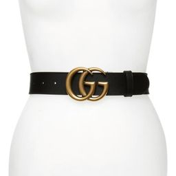 GG Logo Leather Belt | Nordstrom