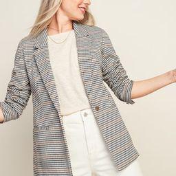 Oversized Patterned Blazer for Women | Old Navy (US)