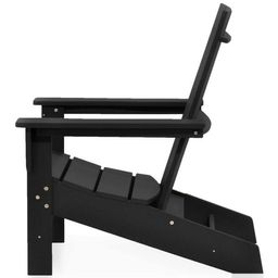 Aria Black Recycled Plastic Modern Adirondack Chair | The Home Depot