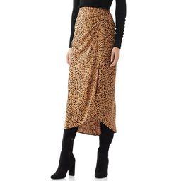 Scoop Women's Printed Asymmetric Skirt | Walmart (US)