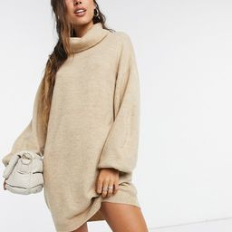 ASOS DESIGN roll neck mini dress | ASOS (Global)
