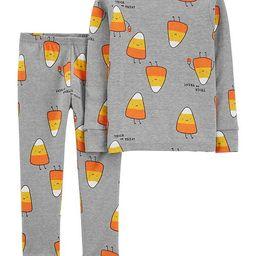 Toddler Boy & Girl 2-Piece Halloween Candy Corn Snug Fit Cotton PJs   Macys (US)
