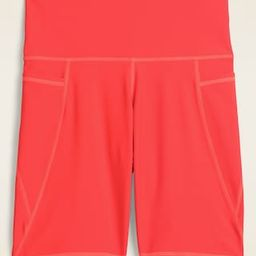 High-Waisted Powersoft Side-Pocket Bermuda Shorts for Women -- 8-inch inseam | Old Navy (US)
