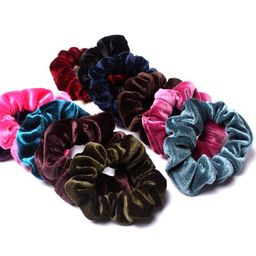 Women Fashion Velvet Scrunchies Vintage All Match Scrunchies Hair Ropes Hair Ties Hair Accessories(C | Walmart (US)