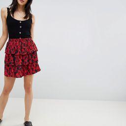 Vero Moda animal print skirt-Multi   ASOS (Global)