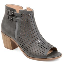 Journee Collection Harlem Women's Ankle Boots, Size: 5.5, Grey | Kohl's