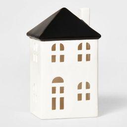 Tall Ceramic House Decorative Figurine White & Black - Wondershop™ | Target