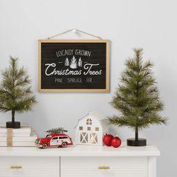 Farm Fresh Tree Hanging Sign Black - Wondershop™ | Target