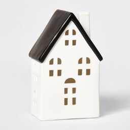 Ceramic Traditional House Decorative Figurine White & Black - Wondershop™ | Target