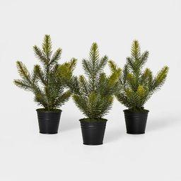 3pk Greenery Tree in Black Bucket Green - Wondershop™ | Target