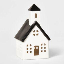 Ceramic Church Decorative Figurine White & Black - Wondershop™ | Target