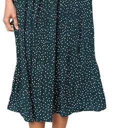 Laiyuan Casual Midi Skirt for Women High Waist Polka Dot Pleated Skirt with Pockets   Amazon (US)