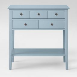 5 Drawer Console Table Acoustic Aqua - Threshold™ | Target