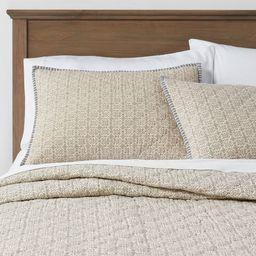 Floral Yarn Dye Stripe Quilt Blue - Threshold™ | Target