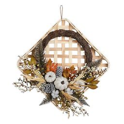 Bee & Willow™ Home Wood Tobacco Basket Wreath | Bed Bath & Beyond