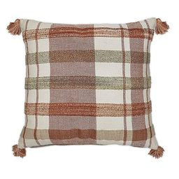 Bee & Willow™ Home Striped Square Throw Pillow in Spice | Bed Bath & Beyond