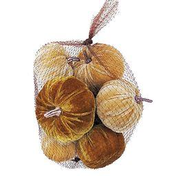 Bee & Willow™ Home 8-Count Velvet Pumpkin Decoration in Net Bag | Bed Bath & Beyond