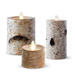 Luminara® Birch Real-Flame Effect Candle Collection | Bed Bath & Beyond