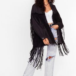 In It To Fringe It Oversized Denim Jacket | NastyGal (US & CA)