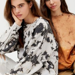 Urban Renewal Recycled Monochrome Tie-Dye Crew Neck Sweatshirt | Urban Outfitters (US and RoW)