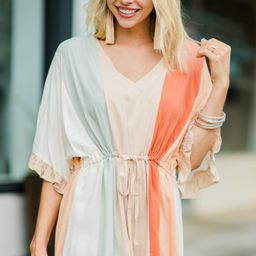 Surrounded By Love Sand White Colorblock Romper | The Mint Julep Boutique