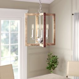 Lovett 4 - Light Candle Style Rectangle / Square Chandelier   Wayfair North America
