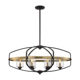 Esme 6 - Light Lantern Geometric Chandelier   Wayfair North America