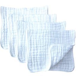 """Muslin Burp Cloths 4 Pack Large 20"""" by 10"""" 100% Cotton 6 Layers Extra Absorbent and Soft by Synrr...   Walmart (US)"""