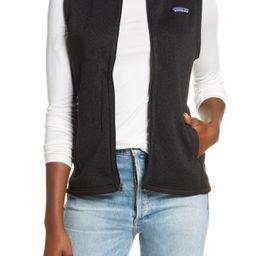 Women's Patagonia Better Sweater Zip Vest, Size Large - Black | Nordstrom