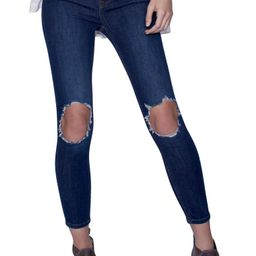 We the Free by Free People High Rise Busted Knee Skinny Jeans | Nordstrom