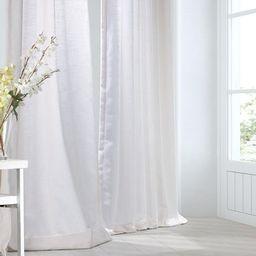 Heavy Faux Linen Single Curtain Panel   Overstock