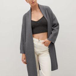 Knitted long coat | MANGO (UK)