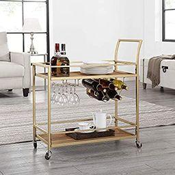 "FirsTime & Co. Francesca Bar Cart, 32""H x 15""W x 12.25""D, Gold | Amazon (US)"