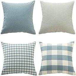 Throw Pillow Covers Cases Geometric Stripe Tartan Checkered Buffalo Plaid Pillowcases Cushion Cov...   Amazon (US)