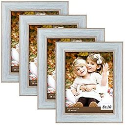 BOICHEN Picture Frames 8x10 Blue (Set of 4 Pack) - Rustic Farmhouse Wooden Photo Frame with Glass...   Amazon (US)