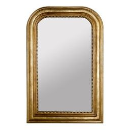 Traditional Accent Mirror Worlds Away Finish: Gold Leaf   Wayfair North America