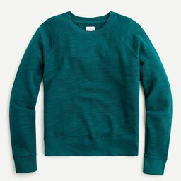 Crewneck pullover in vintage cotton terry   J.Crew US